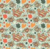 Teste padrão ornamentado floral com muitos detalhes bonitos Fundo bonito sem emenda com flores ilustração do vetor