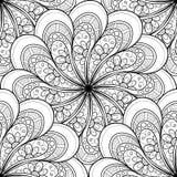 Teste padrão ornamentado monocromático sem emenda do vetor Fotografia de Stock Royalty Free