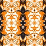 Teste padrão ornamentado sem emenda de Dia das Bruxas Ilustração do vetor Imagem de Stock Royalty Free