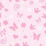 Teste padrão para as meninas para matérias têxteis ilustração do vetor