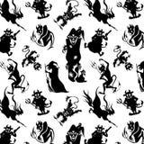 Teste padrão para Dia das Bruxas Imagem de Stock