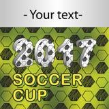 Teste padrão para o campeonato do futebol com t-shirt Fotos de Stock