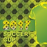Teste padrão para o campeonato do futebol com t-shirt Imagens de Stock Royalty Free