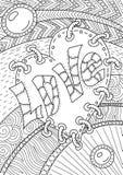 Teste padrão para o livro para colorir Projeto retro étnico Imagem de Stock Royalty Free
