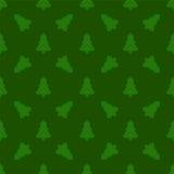 Teste padrão para o papel de envolvimento Árvore de Natal em um fundo verde Fotografia de Stock