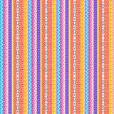 Teste padrão Pastel intrincado das listras Imagens de Stock Royalty Free