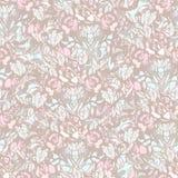 Teste padrão pastel sem emenda floral Fotos de Stock Royalty Free