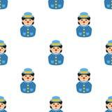 Teste padrão pequeno de Avatar Icon Seamless do palhaço Imagem de Stock