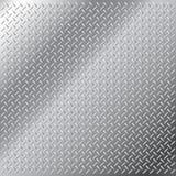 Teste padrão pequeno do passo do diamante do aço inoxidável Fotos de Stock Royalty Free