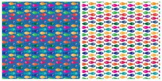 Teste padrão pequeno dos peixes Fotos de Stock