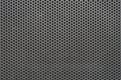 Teste padrão perfurado da grade do metal do hexágono sem emenda imagens de stock