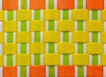Teste padrão plástico do weave Foto de Stock Royalty Free
