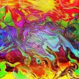 Teste padrão plástico geométrico do arco-íris líquido Imagem de Stock Royalty Free