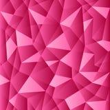 Teste padrão poligonal do inclinação cor-de-rosa brilhante Foto de Stock