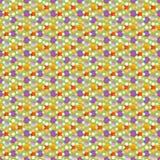 Teste padrão pontilhado jazzístico do papel de parede em cores da mola Fotografia de Stock