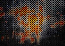 Teste padrão pontilhado na parede oxidada do metal ilustração royalty free