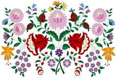 Teste padrão popular do bordado húngaro da região de Kalocsa ilustração do vetor