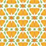 Teste padrão popular floral do vetor das borboletas e das flores ilustração stock