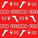 Teste padrão postal Imagens de Stock