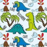 Teste padrão pré-histórico Dino Friends ilustração do vetor