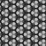 Teste padrão preto de Gray And White Geometirc Abstract ilustração do vetor