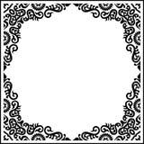 Teste padrão preto do quadro da caligrafia do ornamento do vintage do vetor Fotografia de Stock Royalty Free