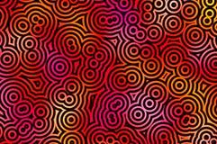 Teste padrão preto dos círculos Imagens de Stock Royalty Free