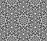 Teste padrão preto e branco Fotografia de Stock