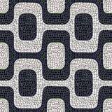 Teste padrão preto e branco abstrato do pavimento Fotos de Stock