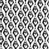 Teste padrão preto e branco abstrato dos seamles do grunge ilustração stock