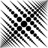 Teste padrão preto e branco circular do fundo ilustração stock