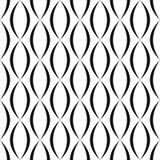 Teste padrão preto e branco da forma curvada do vertical Fotografia de Stock Royalty Free