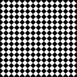 Teste padrão preto e branco da verificação Foto de Stock