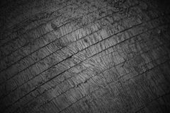 Teste padrão preto e branco de madeira do close up do fundo da textura Foto de Stock