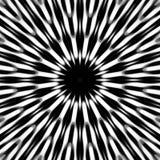 Teste padrão preto e branco de Spikey Fotografia de Stock Royalty Free