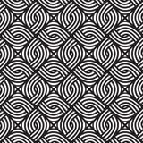 Teste padrão preto e branco de vime abstrato Teste padrão sem emenda do vetor Foto de Stock Royalty Free