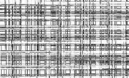 Teste padrão preto e branco do bloco imagens de stock