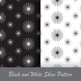 Teste padrão preto e branco do brilho Fotografia de Stock Royalty Free