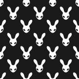 Teste padrão preto e branco do coelho Foto de Stock Royalty Free