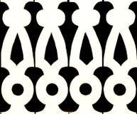 Teste padrão preto e branco do fundo do entalhe Imagem de Stock