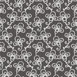 Teste padrão preto e branco do laço Fotos de Stock Royalty Free