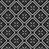 Teste padrão preto e branco do papel de parede Imagem de Stock