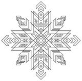 Teste padrão preto e branco do símbolo de Auseklis do Latvian Fotos de Stock
