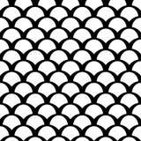 Teste padrão preto e branco do squama Fotos de Stock Royalty Free