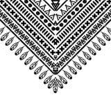 Teste padrão preto e branco do vetor Imagens de Stock