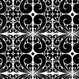 Teste padrão preto e branco do vetor sem emenda da folha abstrata imagem de stock royalty free