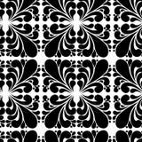 Teste padrão preto e branco do vetor sem emenda da folha abstrata fotos de stock