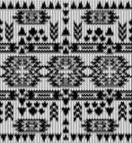 Teste padrão preto e branco feito malha sem emenda do navajo Imagem de Stock
