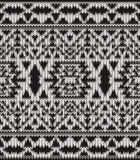 Teste padrão preto e branco feito malha sem emenda do navajo Imagens de Stock
