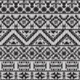 Teste padrão preto e branco feito malha sem emenda do navajo Fotografia de Stock Royalty Free